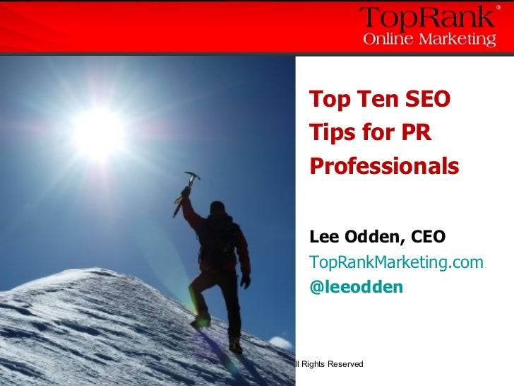 Top 10 SEO Public Relations Tips: TopRank