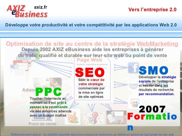 Vers l'entreprise 2.0Développe votre productivité et votre compétitivité par les applications Web 2.0        Depuis 2002 A...