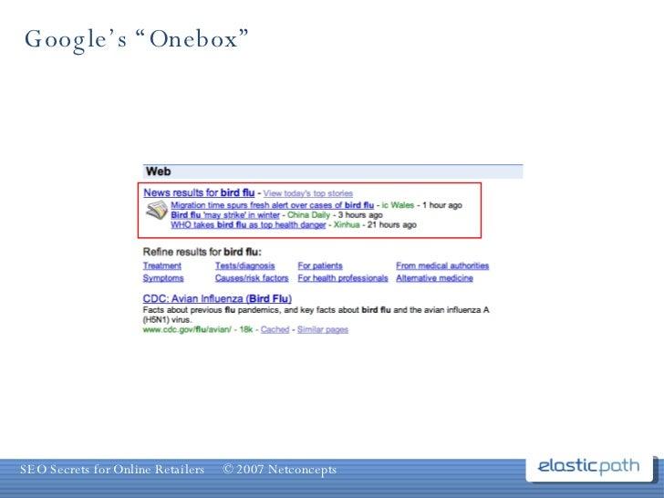 """Google's """"Onebox"""""""