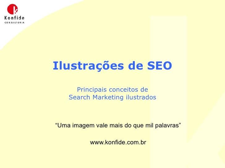 """Ilustrações de SEO Principais conceitos de Search Marketing ilustrados """" Uma imagem vale mais do que mil palavras"""" www.kon..."""