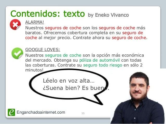 Enganchadoainternet.com @SemBilbao35 Contenidos: texto by Eneko Vivanco ALARMA! Nuestros seguros de coche son los seguros ...