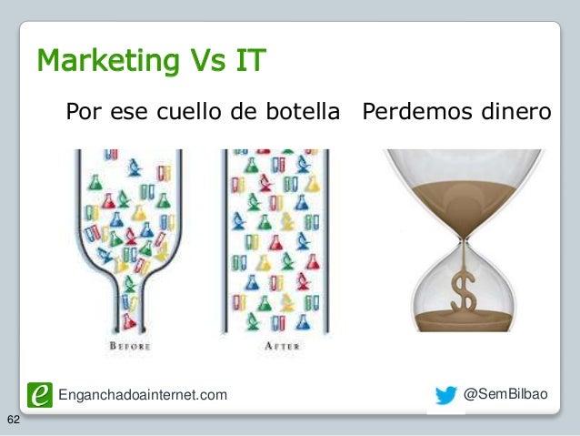 Enganchadoainternet.com @SemBilbao 62 Por ese cuello de botella Perdemos dinero Marketing Vs IT
