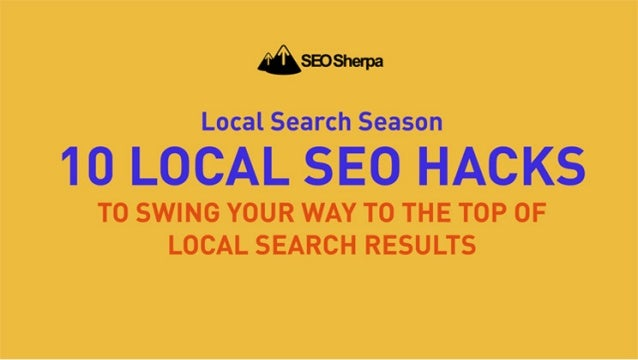 10 Actionable Local SEO Hacks That Will Make Your Business Rank Higher