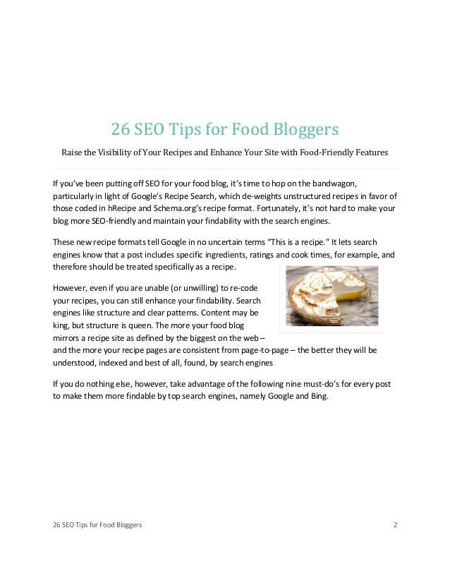 Seo tips for food bloggers Slide 2