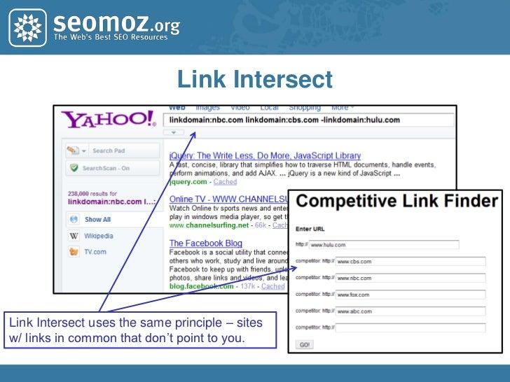 Google Blog Search</li></li></ul><li>Yahoo! Site Explorer<br />Directionally indicative<br />within ~50%<br />Not necessa...