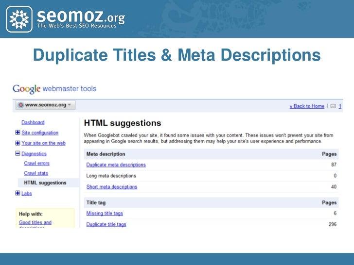 Duplicate Content & Canonicalization<br />