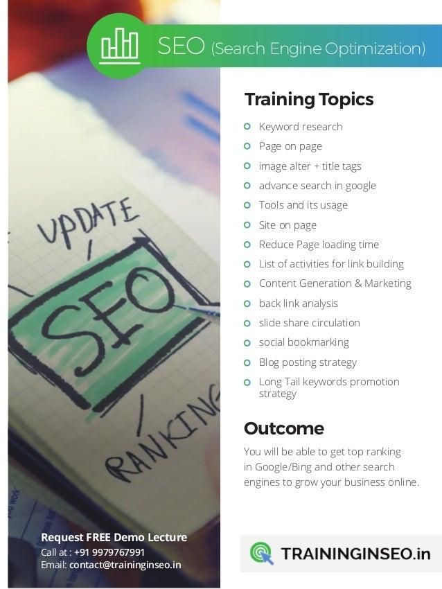 Free seo training pdf