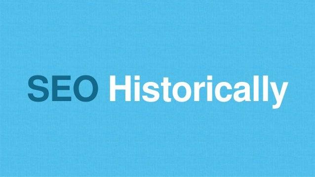 SEO Historically