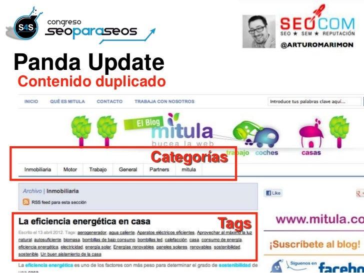 Panda UpdateContenido duplicado                 Categorías                         Tags
