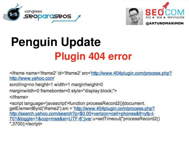 Penguin Update      Plugin 404 error