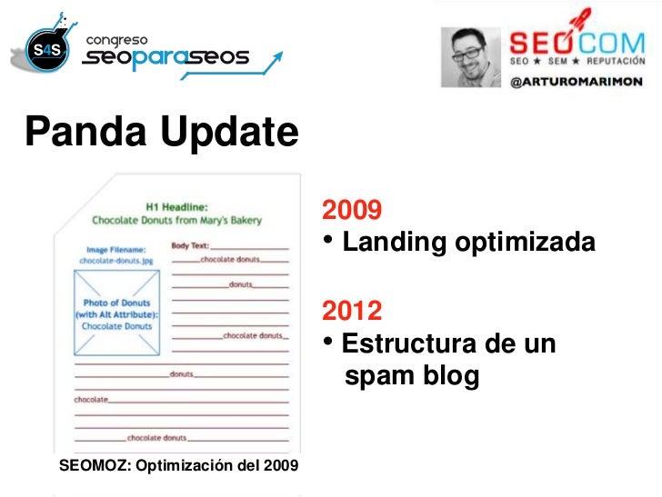Panda Update                                 2009                                 • Landing optimizada                    ...