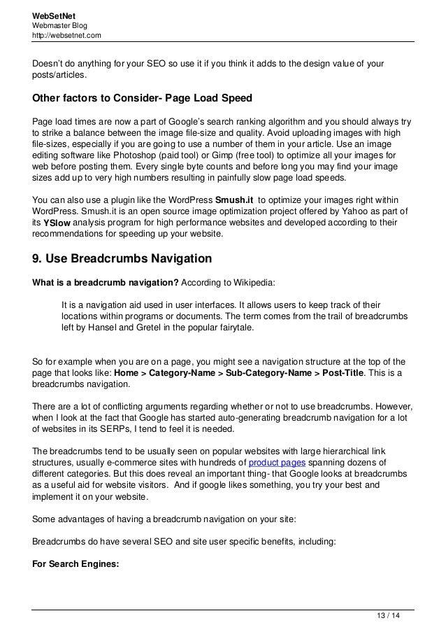 Seo wordpress-top-10-search-engine-optimization-tips slideshare - 웹