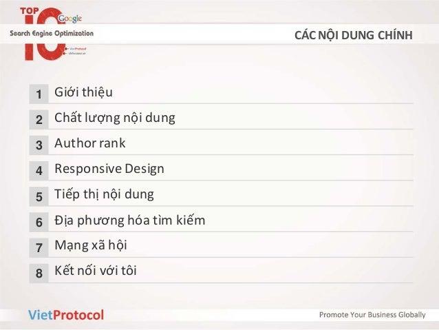 SEO - Xu hướng SEO 2013 - Trần Ngọc Chính Slide 2