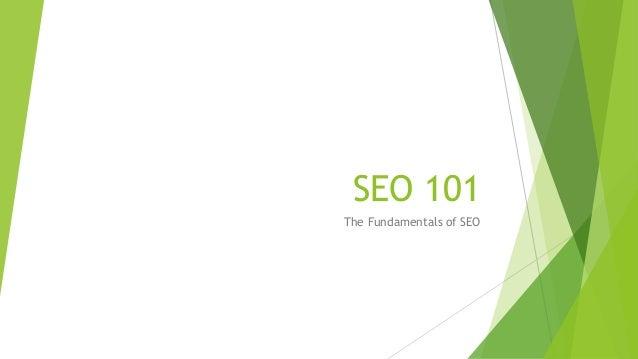 SEO 101 The Fundamentals of SEO