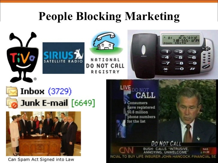 People Blocking Marketing     Can Spam Act Signed into Law