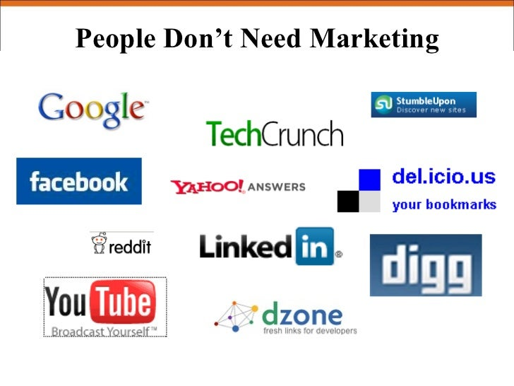 People Don't Need Marketing