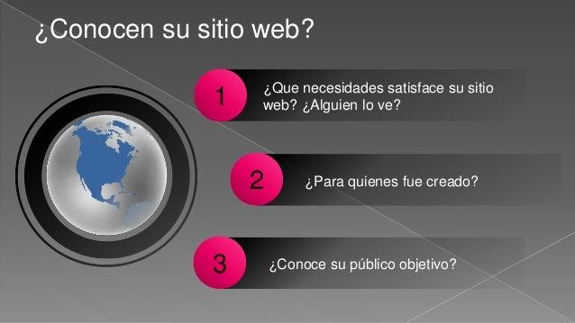 ¿Conocen su sitio web? ¿Que necesidades satisface su sitio web? ¿Alguien lo ve?1 ¿Para quienes fue creado?2 ¿Conoce su púb...