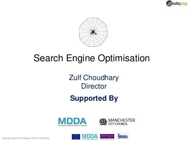 Search Engine Optimisation                                                   Zulf Choudhary                               ...