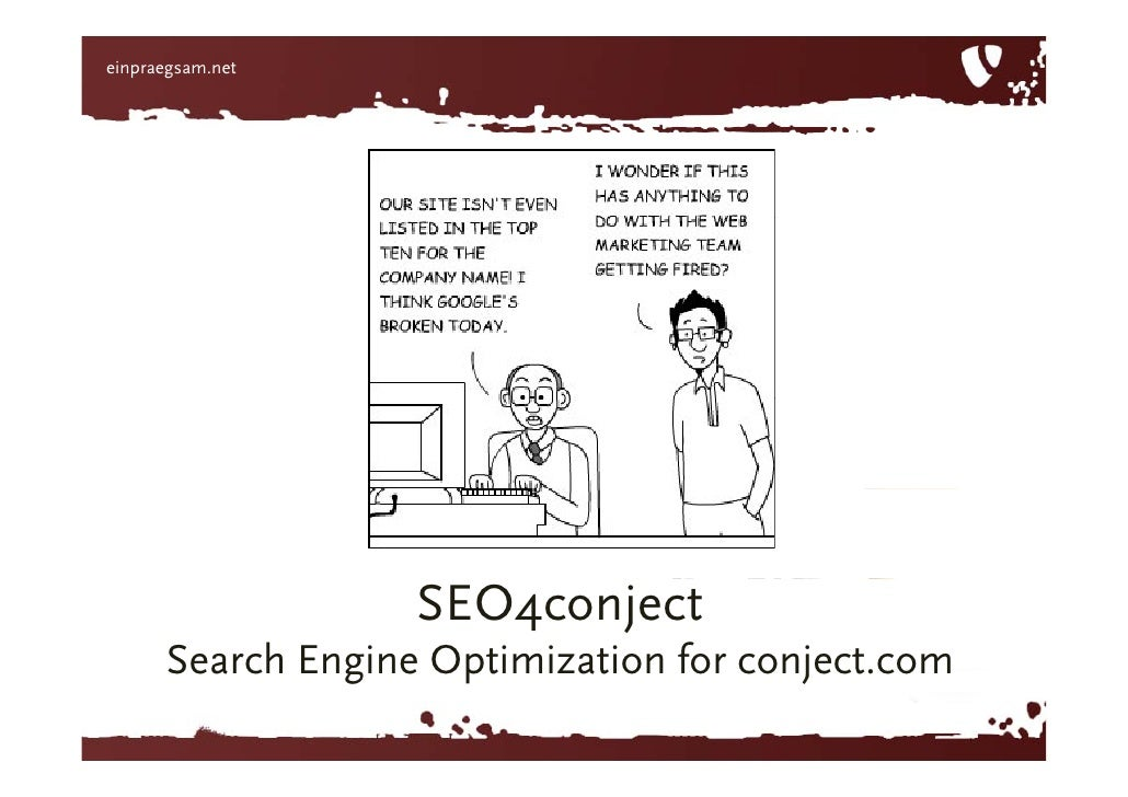 SEO4conject SearchEngine Optimizationfor conject.com<br />
