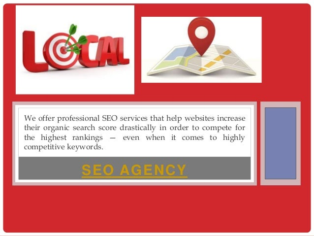SEO AGENCY We offer professional SEO services that help websites increase their organic search score drastically in order ...
