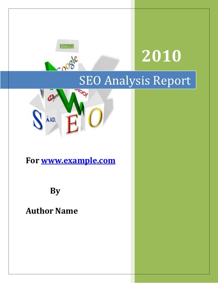 """SEO Analysis Report2010For www.example.com             By Author Name <br />Table of Contents<br /> TOC o """" 1-3""""  h z u 1...."""