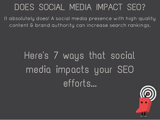 7 Ways Social Media Impact Your SEO Performance Slide 2