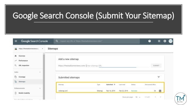 Google Search Console (Submit Your Sitemap)