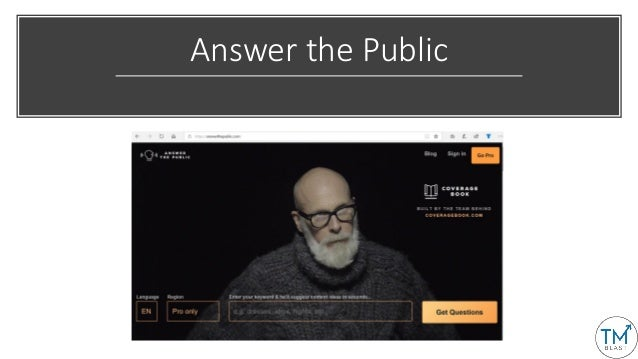 Answer the Public Content Ideas to Blog About