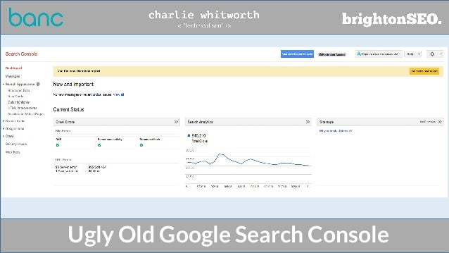 Ugly Old Google Search Console