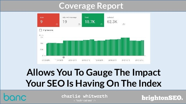 Coverage Report Allows You To Gauge The Impact Your SEO Is Having On The Index