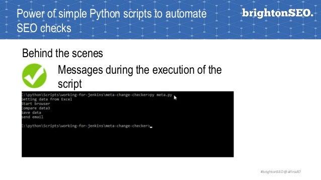 Automate your SEO checks with Python 2017