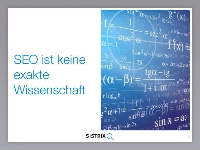 Seo Basics: Google Rankingfaktoren 2016 Slide 3