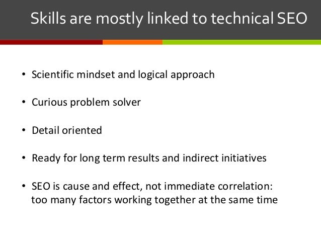 • Scientific mindset and logical approach • Curious problem solver • Detail oriented • Ready for long term results and...