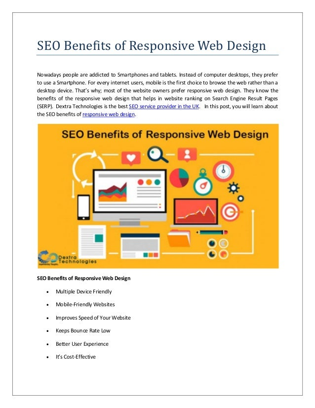 SEO Benefits of Responsive Web Design Nowadays people are addicted to Smartphones and tablets. Instead of computer desktop...