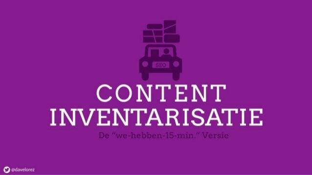 Content inventarisatie - hoe begin je eraan?