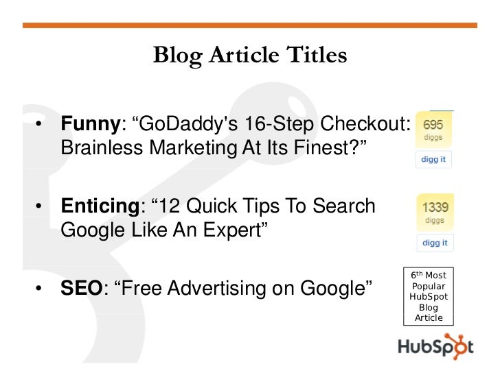 """Blog Article Titles  • F nn """"GoDadd 's 16 Step Checko t   Funny: """"GoDaddy's 16-Step Checkout:   Brainless Marketing At Its..."""