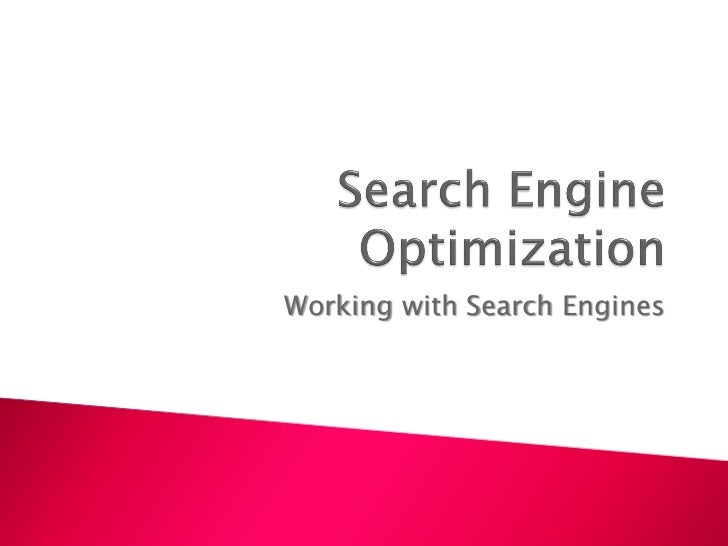 Working with Search Engines