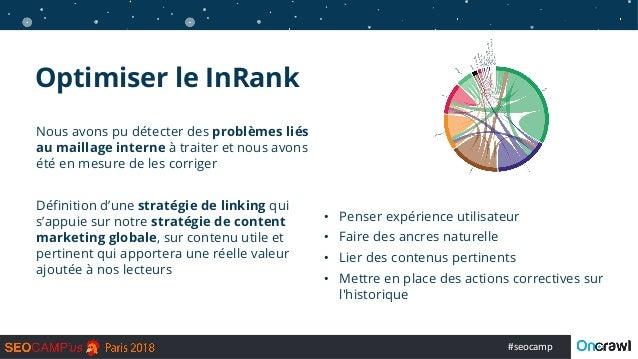 #seocamp Optimiser le InRank Nous avons pu détecter des problèmes liés au maillage interne à traiter et nous avons été en ...