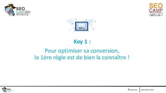 Marseille 2019#seocamp Key 1 : Pour optimiser sa conversion, la 1ère règle est de bien la connaître !