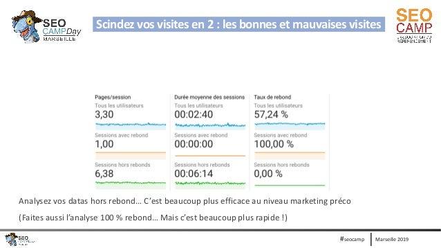 Marseille 2019#seocamp Scindez vos visites en 2 : les bonnes et mauvaises visites Analysez vos datas hors rebond… C'est be...