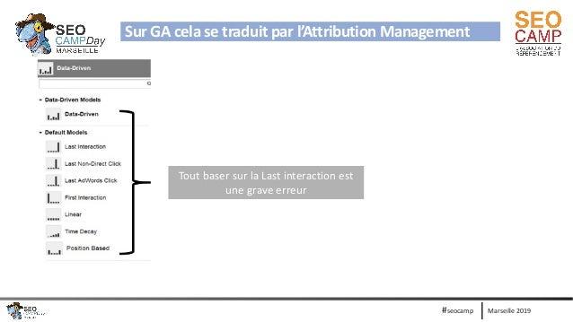 Marseille 2019#seocamp Sur GA cela se traduit par l'Attribution Management Ajouter la video du foot Tout baser sur la Last...