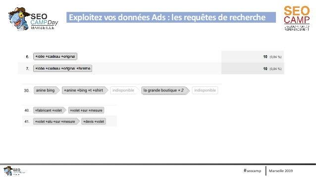 Marseille 2019#seocamp Exploitez vos données Ads : les requêtes de recherche