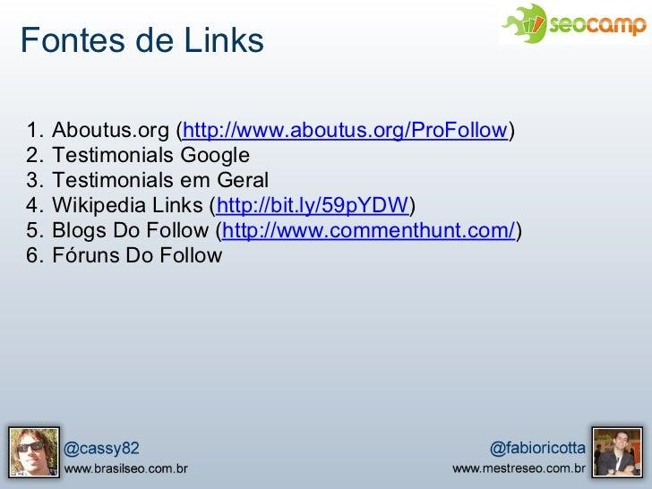 Apresentação do SEOCamp - SEO Tools e Linkbuilding Slide 3