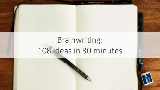 #SEOCAMP @lauracrimmons Brainwriting: 108 ideas in 30 minutes