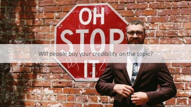 #SEOCAMP @lauracrimmons Will people buy your credibility on the topic?