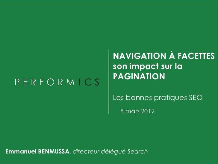NAVIGATION À FACETTES                                son impact sur la                                PAGINATION          ...