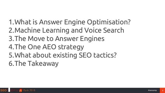 Answer Engine Optimisation - Seo camp'us 2018   Slide 3