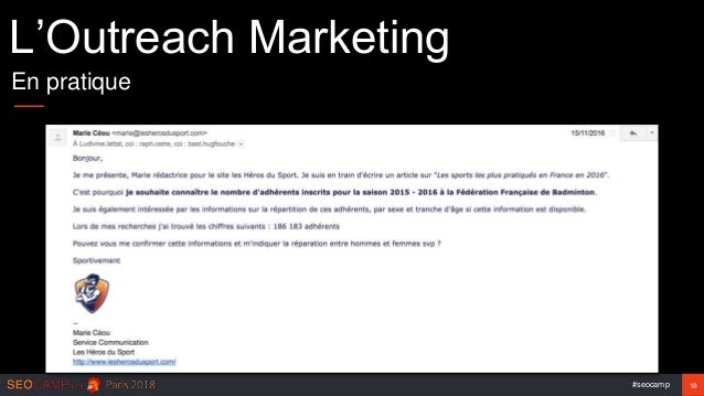 #seocamp 18 L'Outreach Marketing En pratique