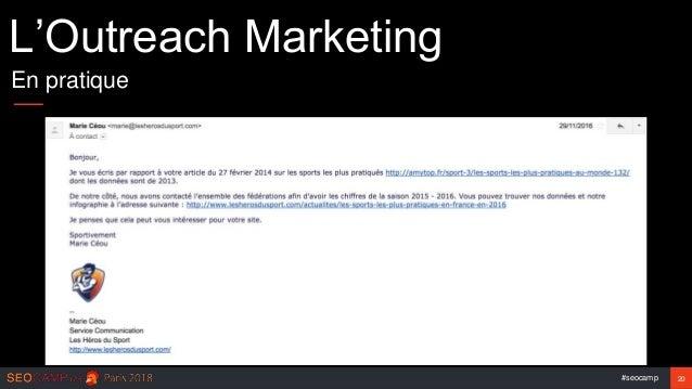 #seocamp 20 L'Outreach Marketing En pratique