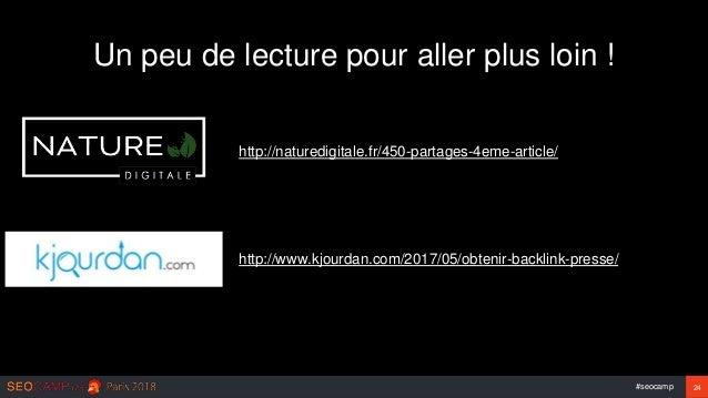 #seocamp 24 Un peu de lecture pour aller plus loin ! http://naturedigitale.fr/450-partages-4eme-article/ http://www.kjourd...